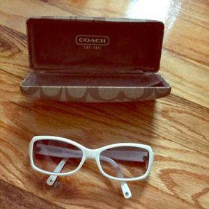 Coach White rhinestone sunglasses
